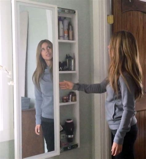 Ana white full length mirror sliding beauty storage