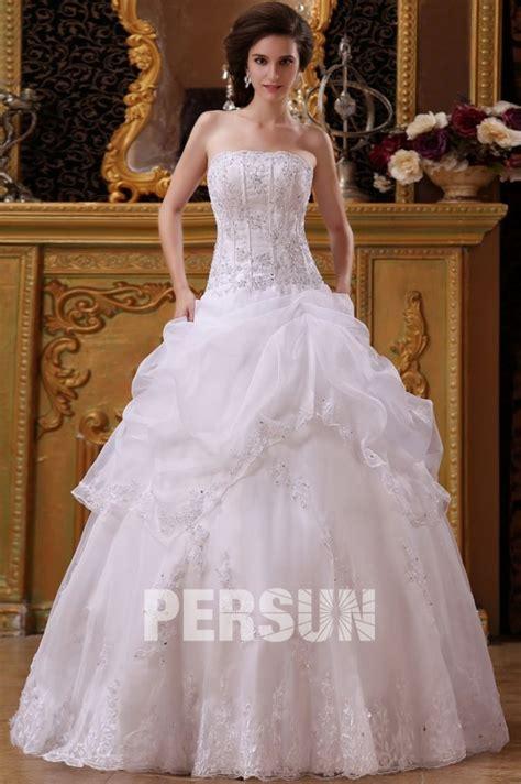 Robe De Mariée Princesse Bustier Paillette - robe de mari 233 e bustier orn 233 e de applique et paillette en