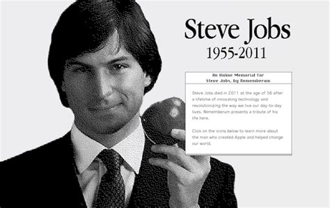 biography of steve jobs founder of apple rememberum pays tribute to steve jobs with an online