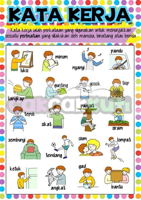 p1004 poster kata kerja cak cak kuti educational supplies programmes