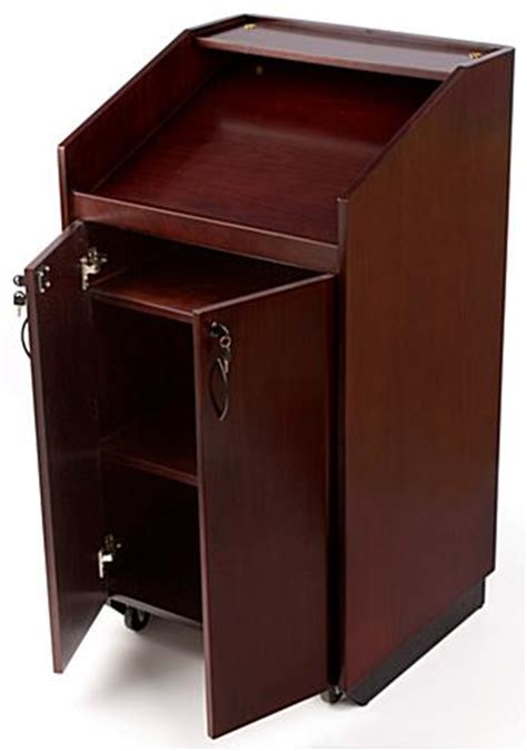 Mobile Lectern   Podium with Wheels for Conferences or
