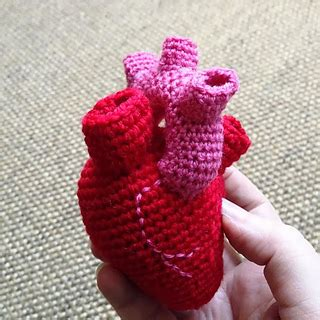 knitting pattern anatomical heart ravelry valentine crochet diy here is my heart you can