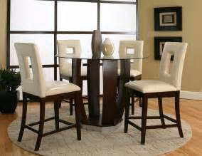 Glass Top Bar Table Set by Emerson Table 4 Chairs 45133 539 Cramco Counter Height