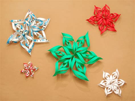 3d Snowflakes Paper Craft - how to make a 3d paper snowflake 12 steps with pictures