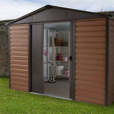 metal garden sheds floor yardmaster shed ft  ft