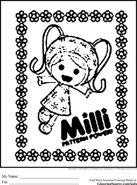 team umizoomi coloring pages milli coloring pages