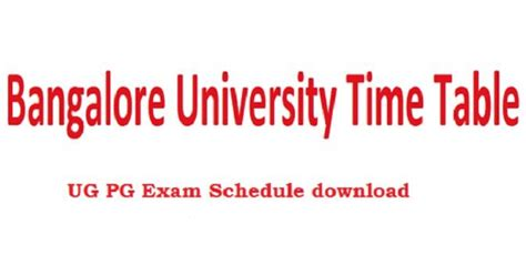 Bangalore Mba Time Table by Bangalore Time Table 2018 Ma M M Sc