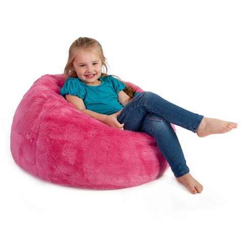 faux fur bean bag uk pink s day gift guide for all the family