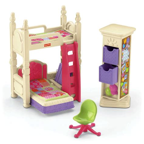 Fisher Price Loving Family Kids Bedroom | loving family deluxe d 233 cor kids bedroom