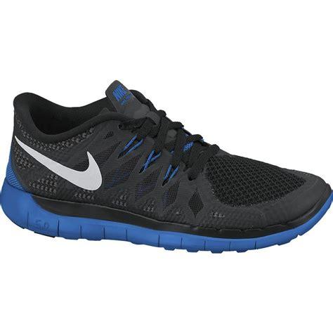 nike boys free 5 0 running shoes black photo blue