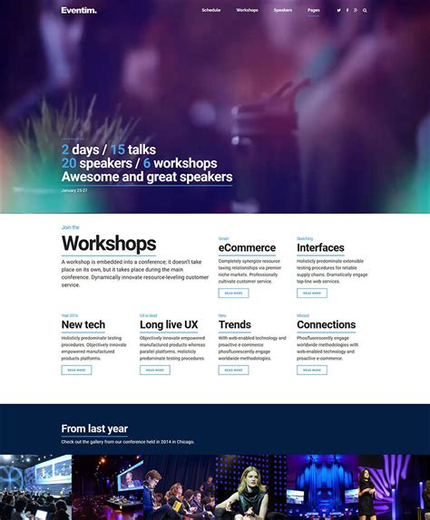 conference themes exles fantastic wordpress conference theme image collection