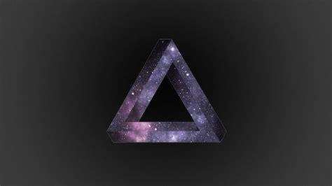 wallpaper triangle dark background light  shape