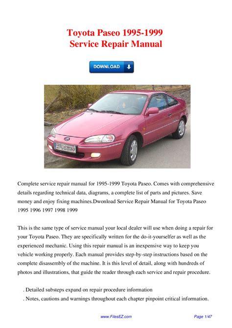 online service manuals 1997 toyota corolla parental controls service manual online repair manual for a 1995 toyota paseo 1993 toyota paseo service shop