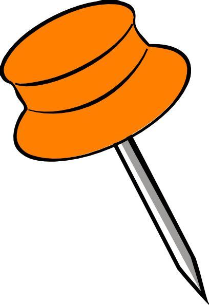 B Q Drawing Pins by Pin Orange Clip At Clker Vector Clip
