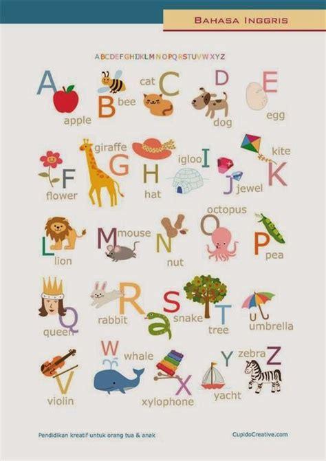 belajar bahasa inggris untuk anak tk sd poster anak belajar huruf alfabet bahasa inggris nama