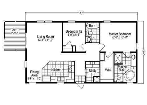 the sl2506e manufactured home floor plan or