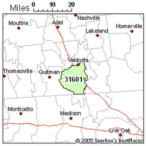 zip code map valdosta ga best place to live in valdosta zip 31601 georgia