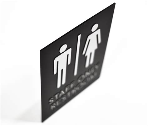 Only Bathroom Sign by Ada Braille Staff Only Restroom Signs Braille Bathroom Signs