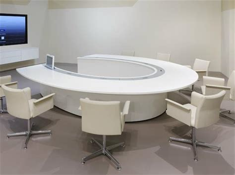 Circle Meeting Table Wanbest Corian Solid Surface Countertop Oem Furniture
