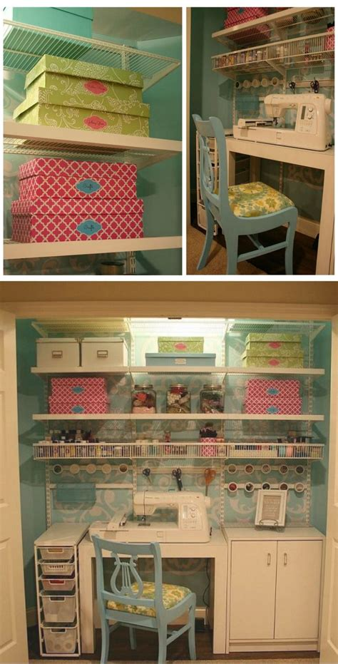 Sewing Room In A Closet by 25 Best Ideas About Sewing Closet On Sewing