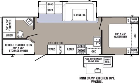 puma travel trailers floor plans 2017 forest river puma 28fqdb cing world of akron
