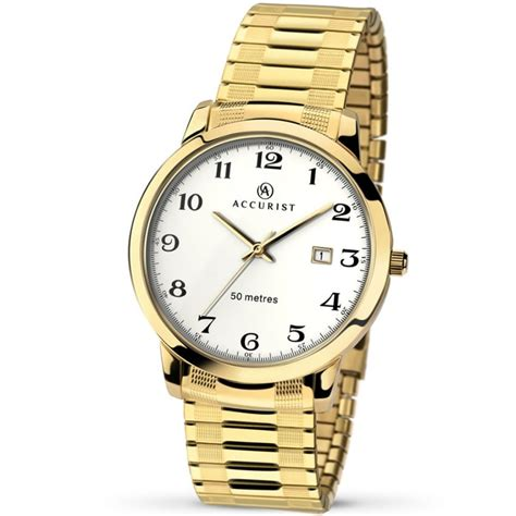 accurist s gold tone expander watches from