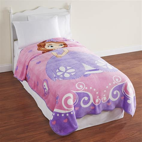sofia the first bed disney girls sofia the first plush blanket
