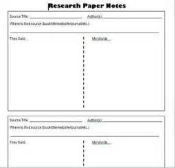 research journal template research paper student notes template information