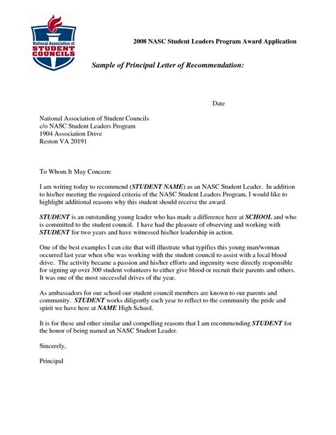 Letter Of Recommendation Middle School Student recommendation letter for middle school student cover
