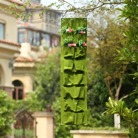 Hanging Vegetable Planters by 16 Pockets Green Grow Bag Wall Hanging Planter Vertical