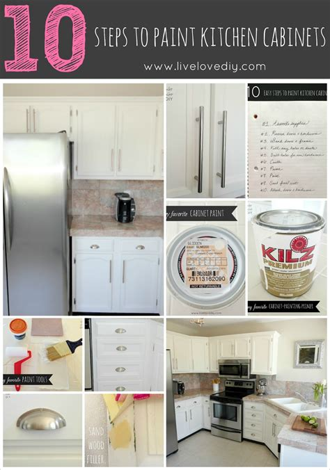 Livelovediy How To Paint Kitchen Cabinets In 10 Easy Steps How Do You Paint Kitchen Cabinets White
