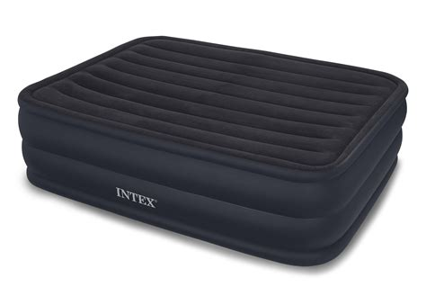 air bed amazon amazon com intex raised downy airbed with built in