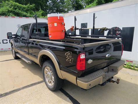 truck bed cooler ford f 150 rack em rack for truck bed side rails holds 2 trimmers 1 blower 1 spool