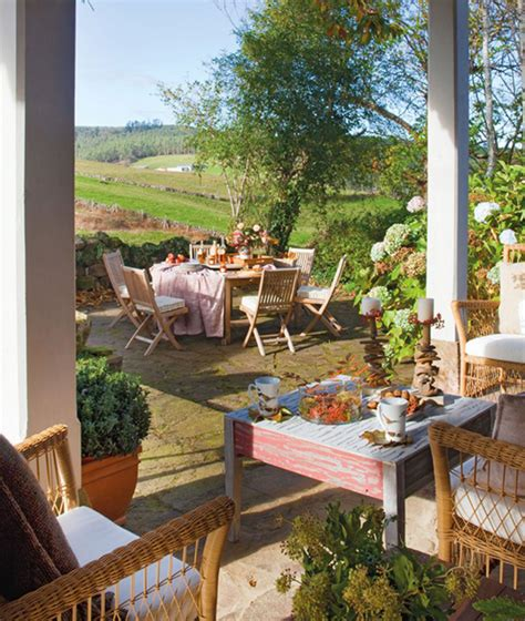 patio furniture spain rustic small house with beautiful garden in home