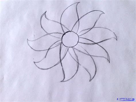 how to doodle easy flowers draw a flower easy step by step drawing sheets added