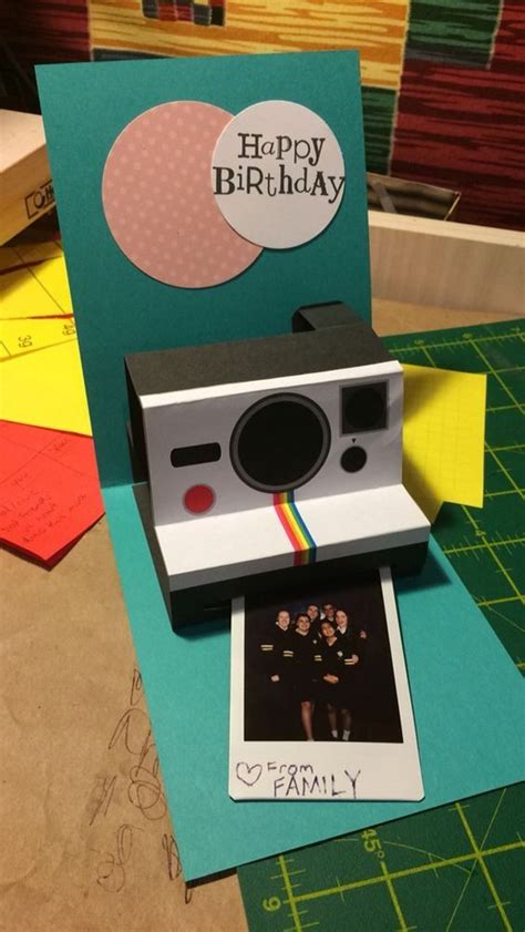 diy polaroid pop up card template what are some great diy pop up birthday cards quora
