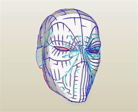 dali lomo deadpool semi rigid mask diy  template