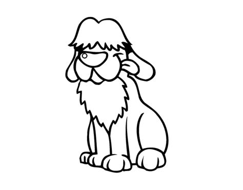 sheep dog coloring page old english sheepdog coloring page coloringcrew com