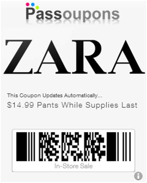 Zara Discount Gift Card - zara coupons for passbook