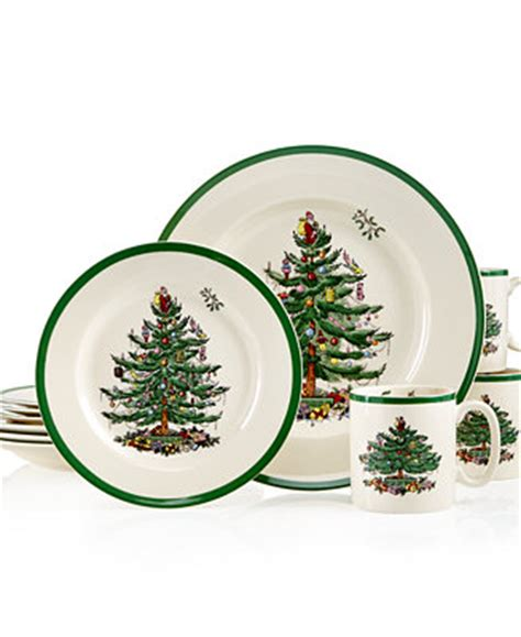 spode christmas tree flatware 45 piece set spode tree dinnerware collection china macy s