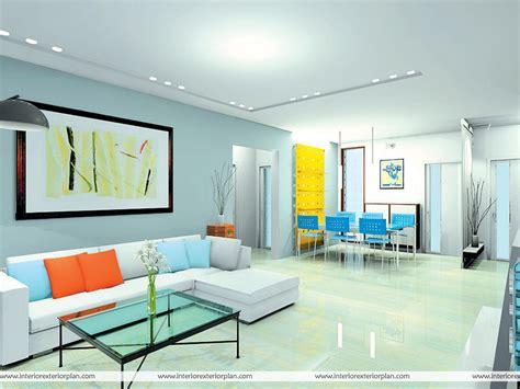 interior exterior plan multicolored living room