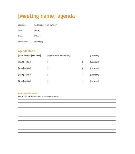 it meeting agenda template 51 effective meeting agenda templates free template