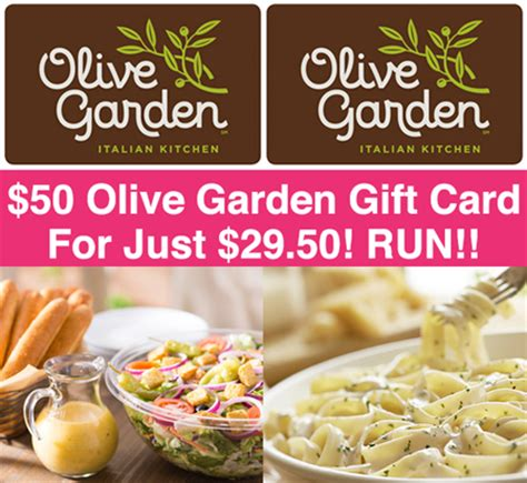 hot 50 olive garden gift card just 29 50 hurry free stuff finder