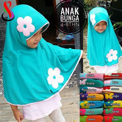 Bergo Anak Auliya Bunga jilbab anak bunga sentral grosir jilbab kerudung i supplier jilbab i retail grosir jilbab