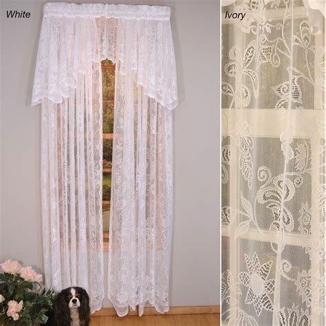 rose lace curtains rose lace window treatment