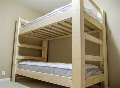 make your own bunk bed plans build a bunk bed jays custom creations