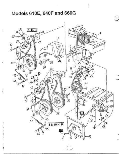 yardman snowblower parts diagram snow thrower diagram parts list for model 313610e000 mtd