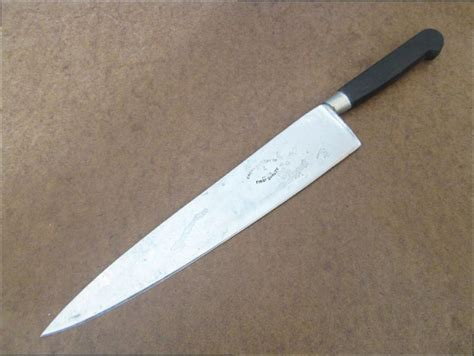 knives 8 in chef knife nogent carbon antique antique nogent style sabatier crown cutlery carbon steel