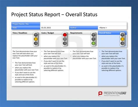 Use The Project Management Powerpoint Templates To Report Your Project Status With Traffic Project Management Powerpoint Templates