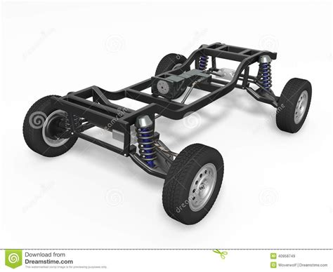 auto gestell car chassis stock image image of part automobile power